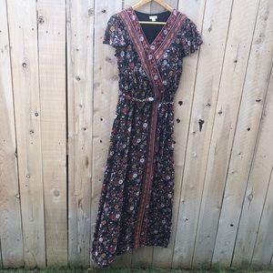 Xhiliration Floral Maxi Dress
